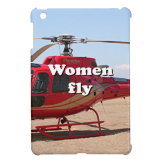 Frauen fliegen: roter Hubschrauber iPad Mini Hülle