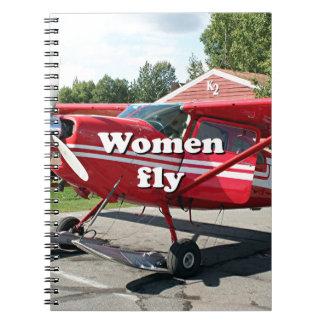 Frauen fliegen: Ski-Flugzeug, Talkeetna, Alaska Notizblock