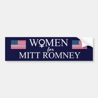 Frauen für Mitt-Romney-Weibliches Zeichen+US Autoaufkleber