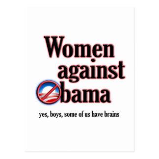 Frauen gegen Obama Postkarte