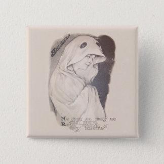 Frauen-Geist-Kostüm-BlattSepia Quadratischer Button 5,1 Cm