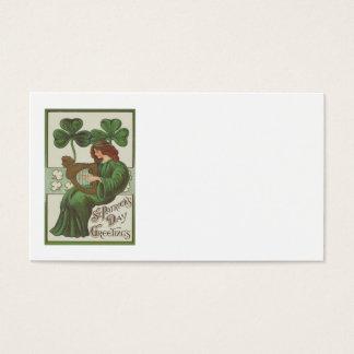 Frauen-Harfe von Erin Kleeblatt Visitenkarten