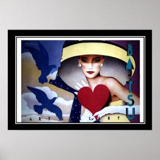 Frauen-Herz-Kunst-Deko-Plakat Poster