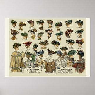 Frauen-Hüte Boston 1905 Poster
