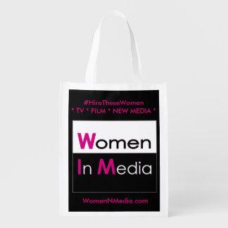 Frauen in den Medien EZ falten Einkaufstasche -