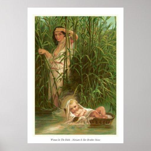 Frauen in der Bibel - Miriam u. ihr Bruder Moses Plakat
