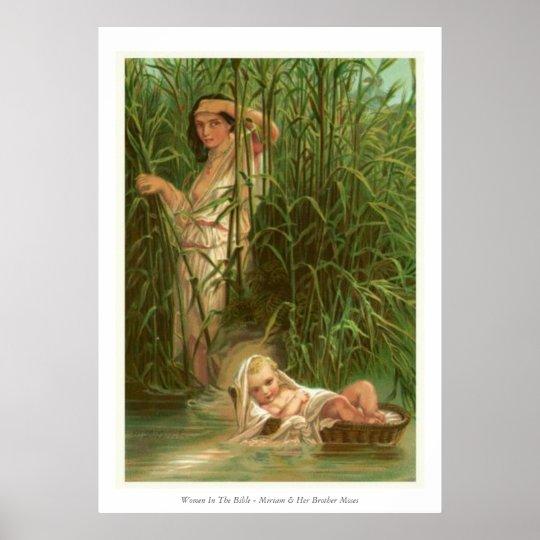 Frauen in der Bibel - Miriam u. ihr Bruder Moses Poster