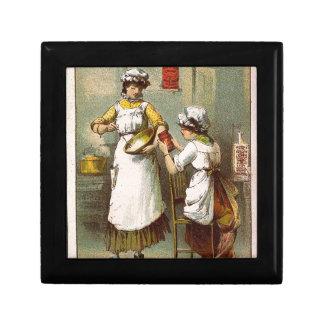 Frauen in der Küche Schmuckschachtel
