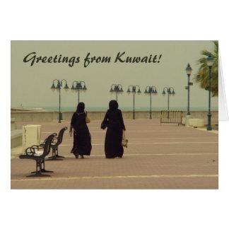 Frauen in Kuwait-Einkaufen Karte
