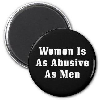 Frauen ist so missbräuchlich wie Männer Runder Magnet 5,1 Cm