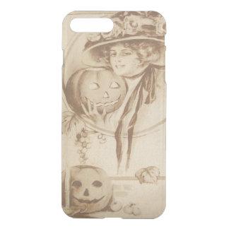 Frauen-Jack O Laternen-Blatt-Kerze iPhone 8 Plus/7 Plus Hülle