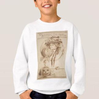 Frauen-Jack O Laternen-Blatt-Kerze Sweatshirt