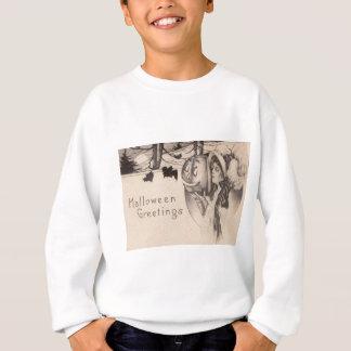 Frauen-Jack O Laternen-Schläger-Vollmond Sweatshirt