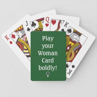 Frauen-Karte, Spielkarten, Standardgesichter Spielkarten