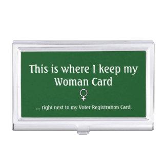 Frauen-Karte, Visitenkarte-Halter Visitenkarten Etui
