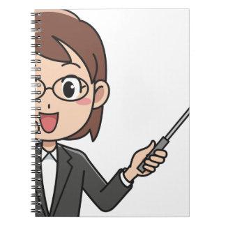 Frauen-Lehrer Spiral Notizblock