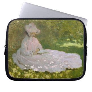 Frauen-LeseFrühjahr Monet Laptop Sleeve