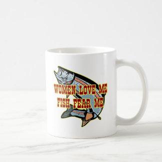 Frauen-Liebe ich Fische befürchten mich Kaffeetasse