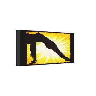 Frauen-Meditationzen-Leinwand-Wand-Kunst Leinwanddruck