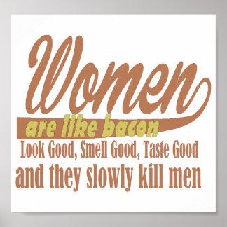 Frauen mögen Speck Poster