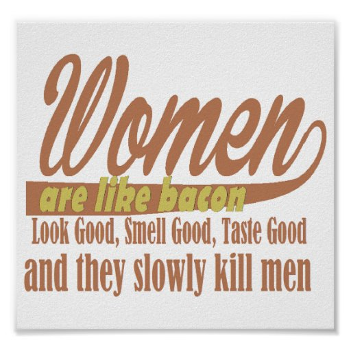 Frauen mögen Speck Plakatdruck