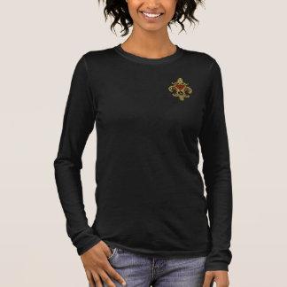 Frauen-Monogramm K, wenn Sie Farbe ändern, Langarm T-Shirt