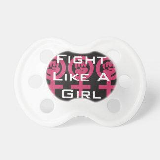 Frauen-Power-Emblem addieren Ihre eigene Baby Schnuller