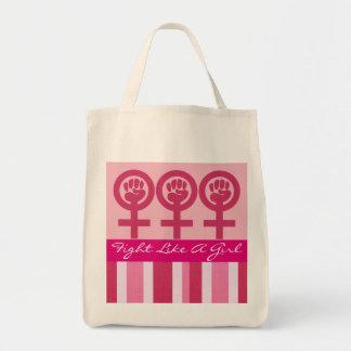 Frauen-Power-Emblem-Lebensmittelgeschäft Tragetasche