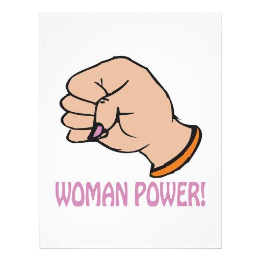 Frauen-Power Personalisierte Flyer