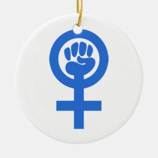 Frauen-Power Keramik Ornament