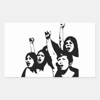 Frauen-Power Rechteckiger Aufkleber