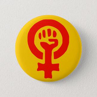 Frauen-Powerknopf Runder Button 5,1 Cm