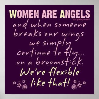 Frauen sind Engel Posterdrucke