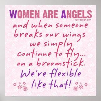 Frauen sind Engels-Spaß Poster