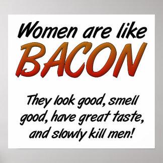Frauen sind Speck-lustiges Plakat