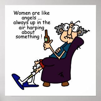 Frauen sind wie Engel Plakat