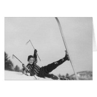 Frauen-Skifahrer 2 Karte