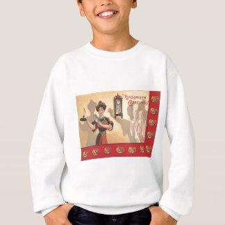 Frauen-Spiegel-Kerzen-Uhr-Geist-Kürbislaterne Sweatshirt