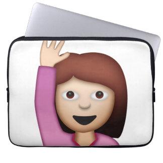 Frauen-Sprichwort hallo - Emoji Laptopschutzhülle