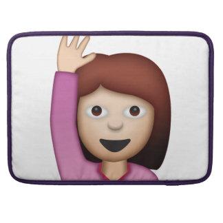 Frauen-Sprichwort hallo - Emoji MacBook Pro Sleeve