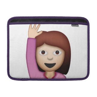 Frauen-Sprichwort hallo - Emoji MacBook Sleeve