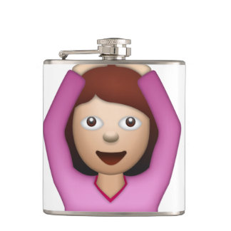 Frauen-Sprichwort ja - Emoji Flachmann