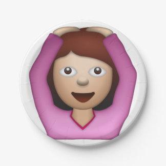 Frauen-Sprichwort ja - Emoji Pappteller