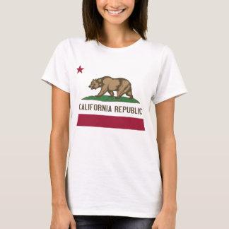 Frauen-T-Shirt mit Flagge von Kalifornien-Staat T-Shirt