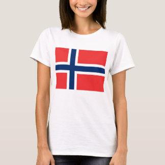 Frauen-T-Shirt mit Flagge von Norwegen T-Shirt