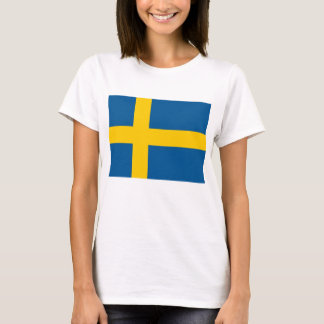 Frauen-T-Shirt mit Flagge von Schweden T-Shirt