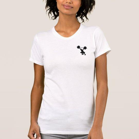 Frauen T-shirt Wappen + Gewichtheber