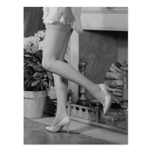 Frauen-Tanzen Postkarte