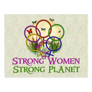 Frauen vereinigt postkarte