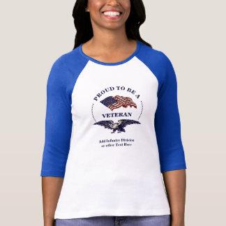 Frauen-Veteranen-amerikanischer Stolz Eagle und T-Shirt